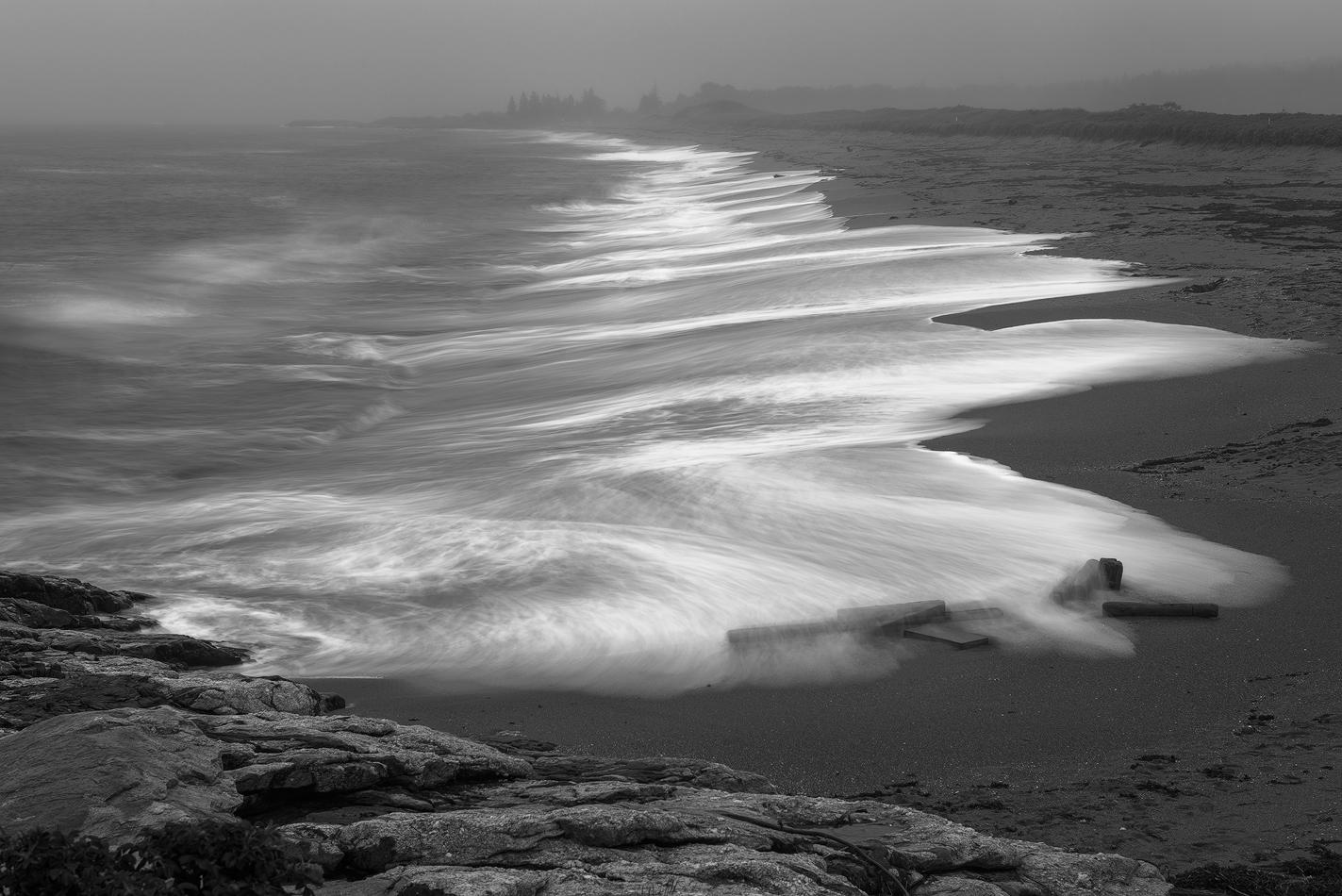 Rainy Beach - Shoreline Hammonasset Beach State Park, CT