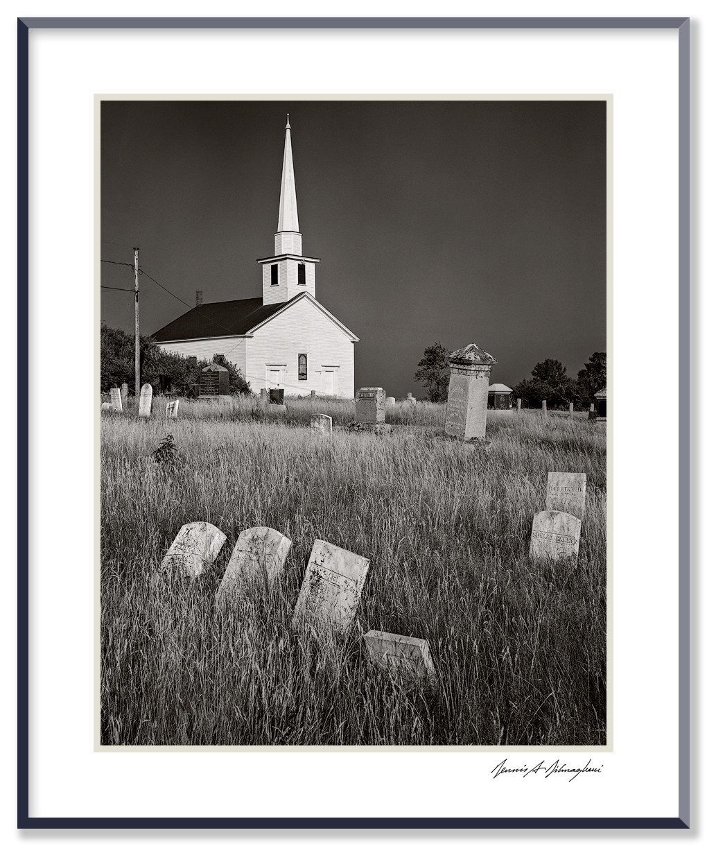 Church and Cemetery - Maine Coast   (Exact name and location not recorded)