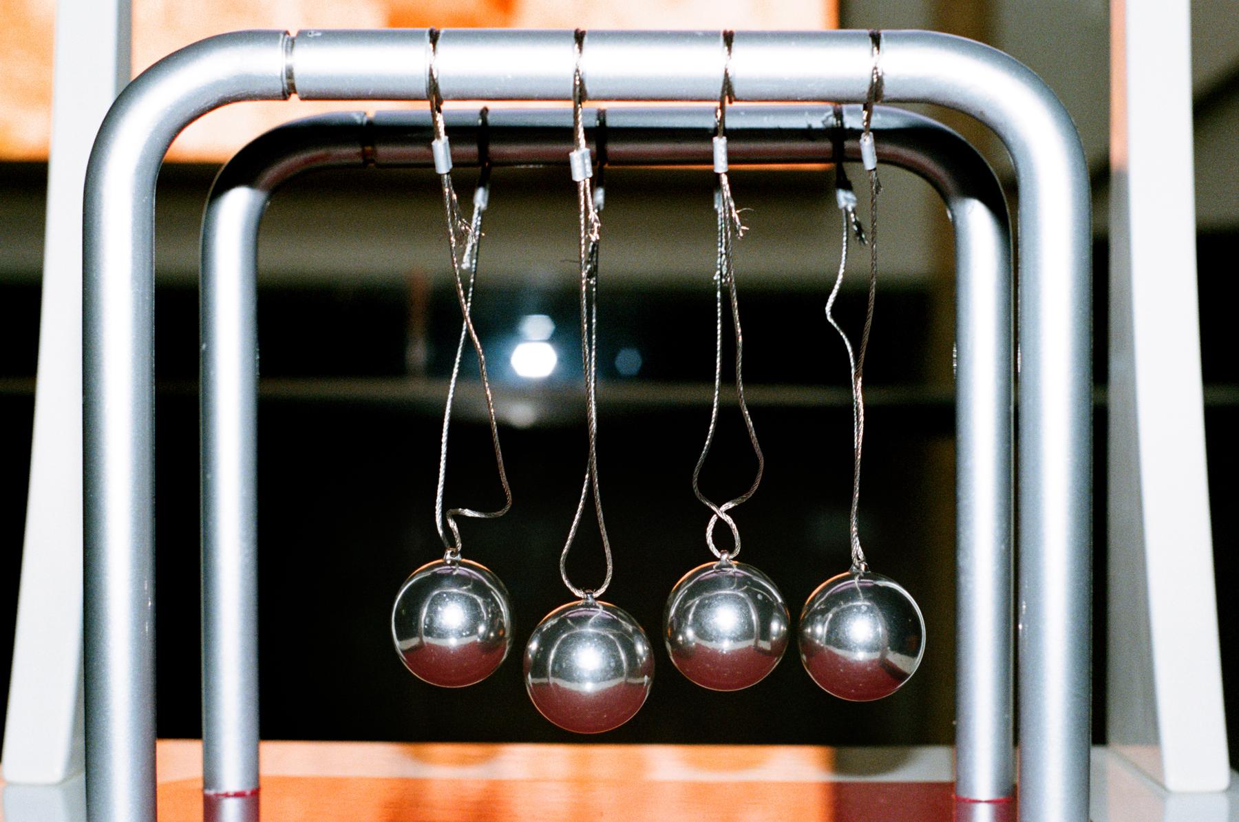 An imitation of a Billard Ball model in the Shenzhen Science Museum
