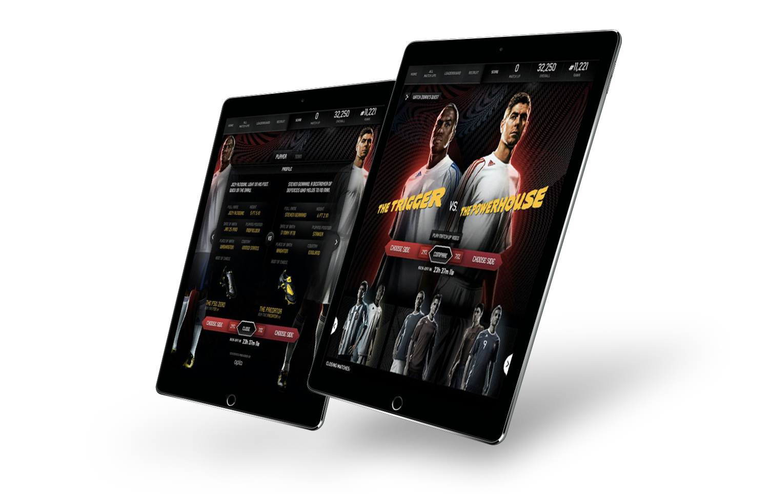 adidas Match Ups was a first-of-it- kind second screen experience in social that allowed fans to make game predictions for each world cup match, and then view and share outcomes in realtime as games unfolded.