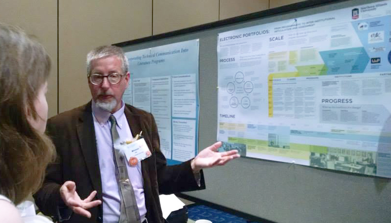 Presenting electronic portfolio research at Conference on College Composition & Communication; March 2015