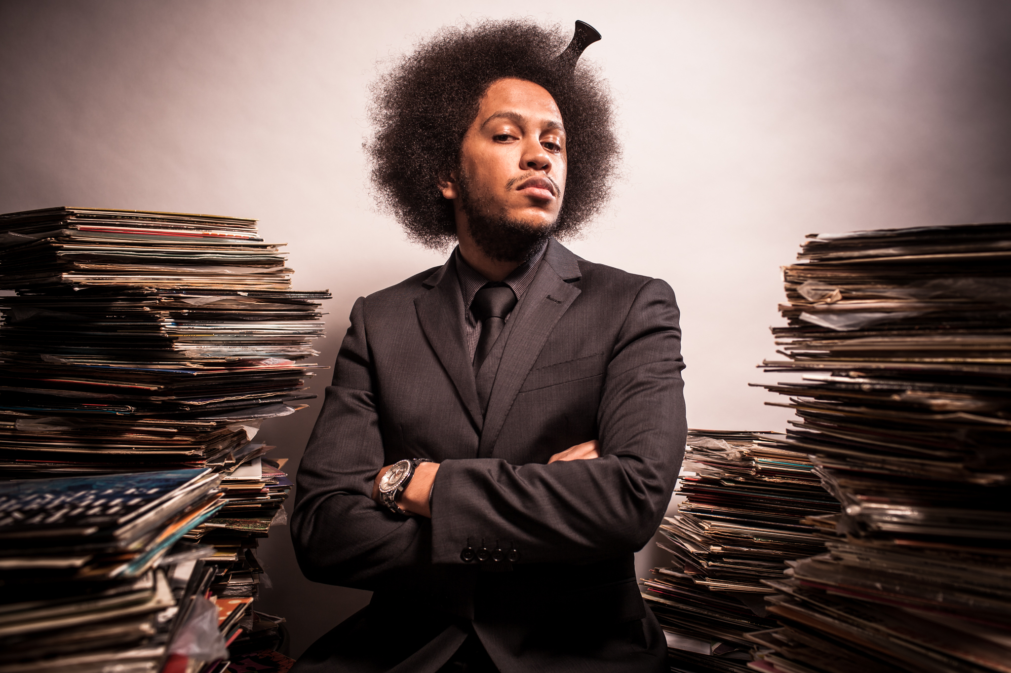 I ask Seb to channel Questlove. No photo-shoot can go poorly if Questlove is involved. #industrysecrets