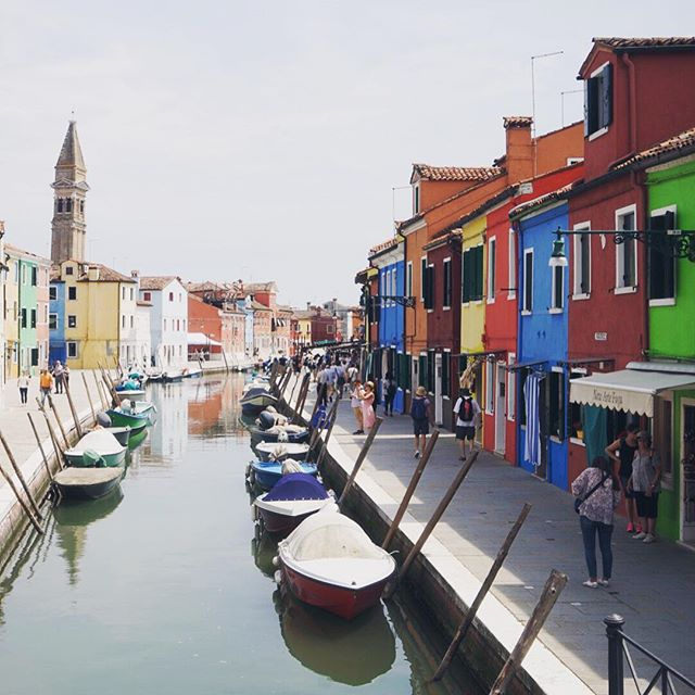 So. Many. Colors #Burano #Italy #travel #boats