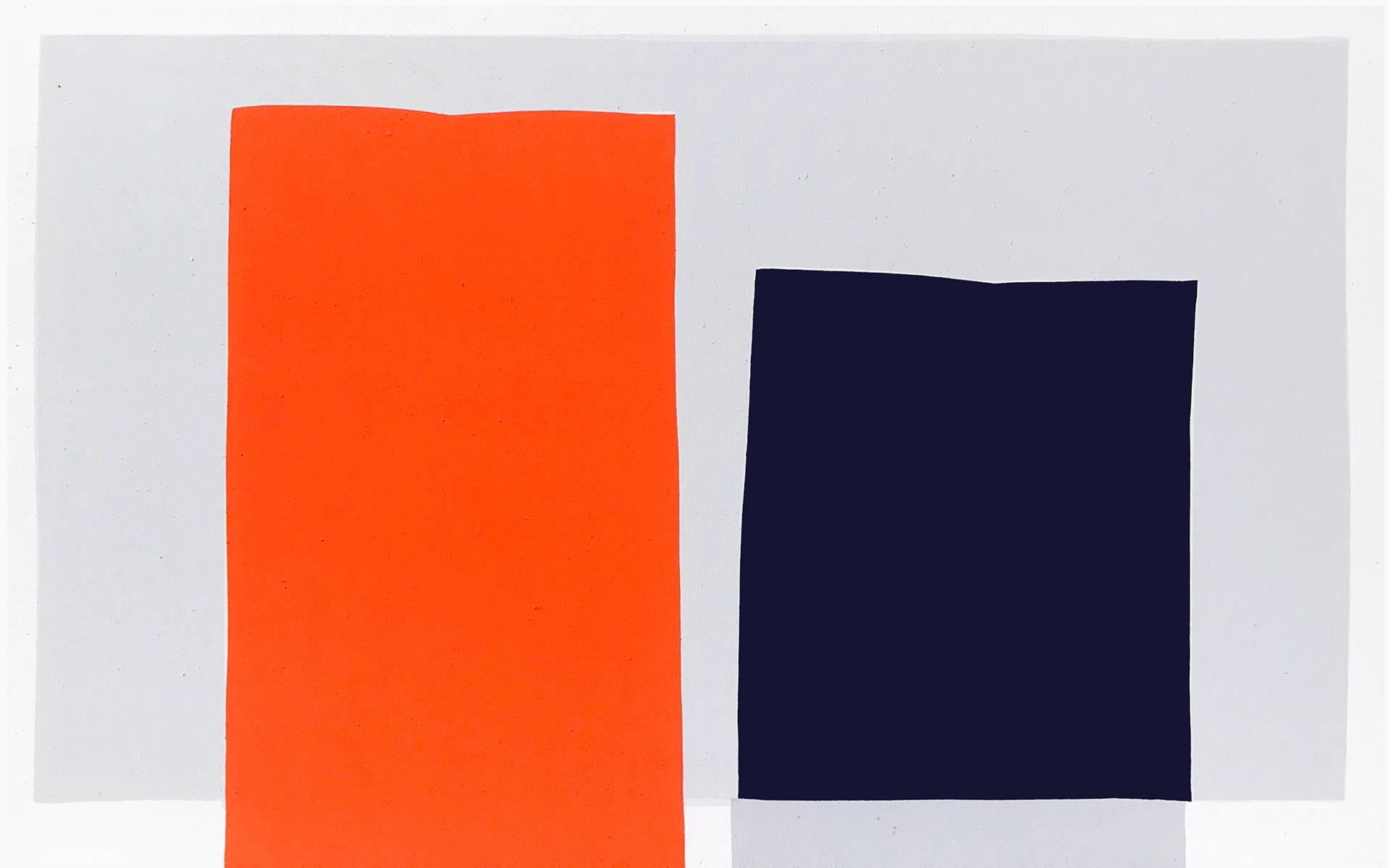 Paul Kremer  -    Hover Slab , 2018 Acrylic on canvas 30h x 48w in