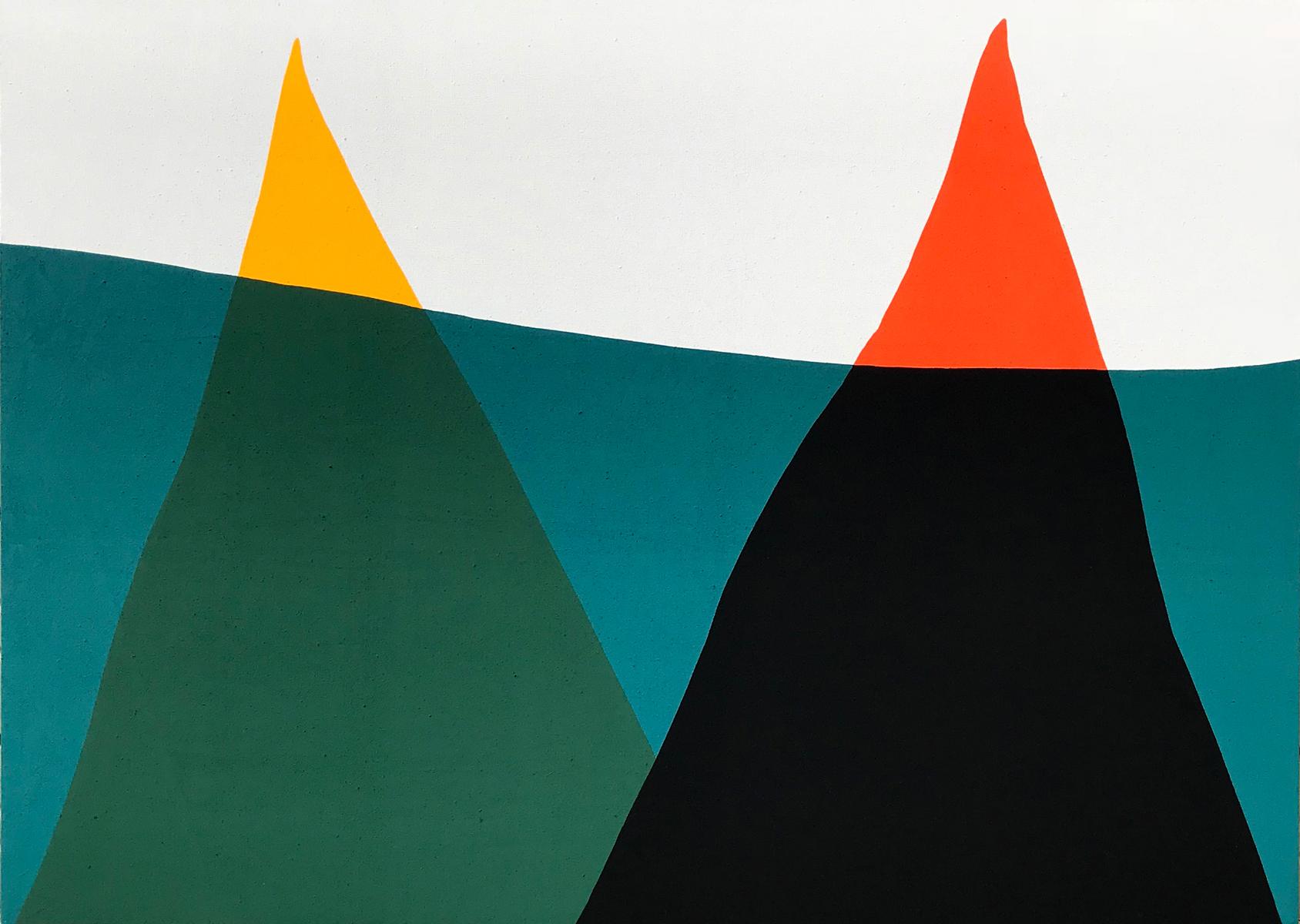 Paul Kremer  -    Float 23 , 2018 Acrylic on canvas 36h x 48w in