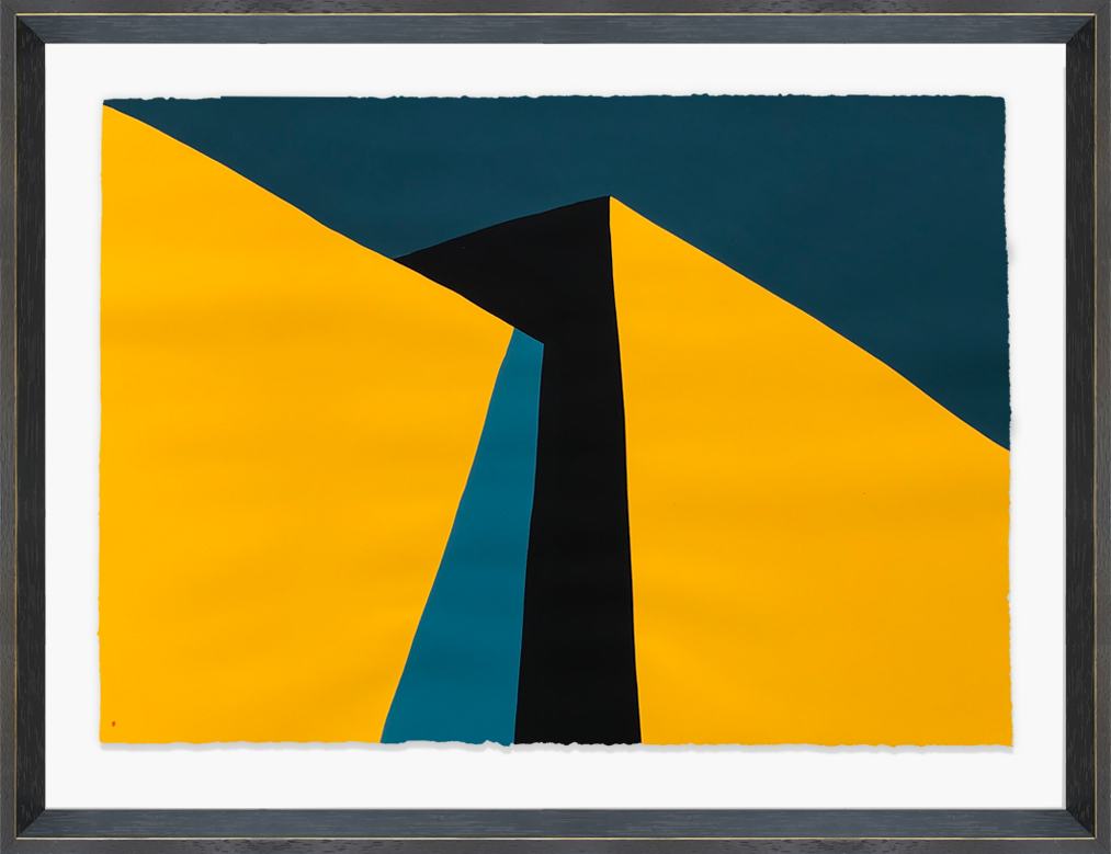 Paul Kremer  -    Hopper 13 (study) , 2018 Acrylic on paper; framed 22.50h x 30w in