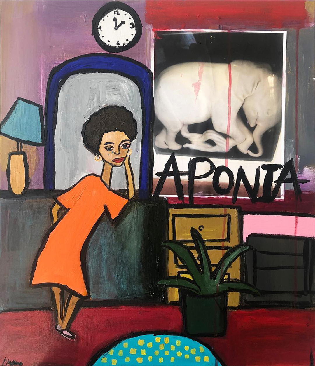 Cassi Namoda  - 2am and the absence of pain, 2018 Acrylic on Canvas 24h x 20w in