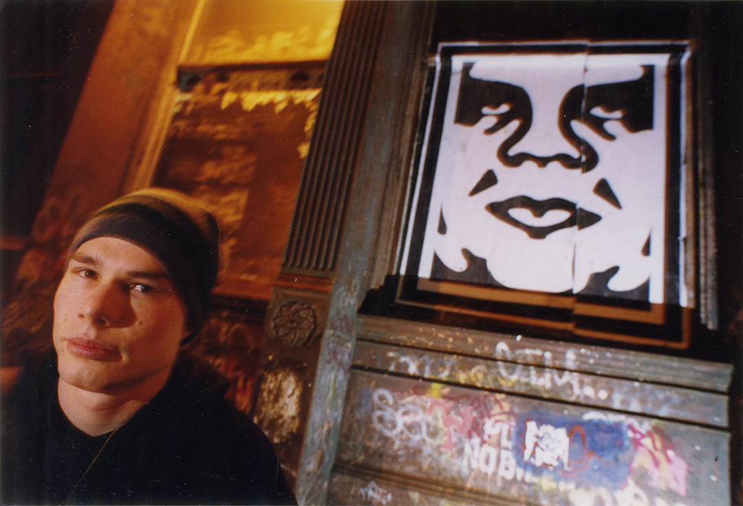 Shepard Fairey in San Francisco, 1999.