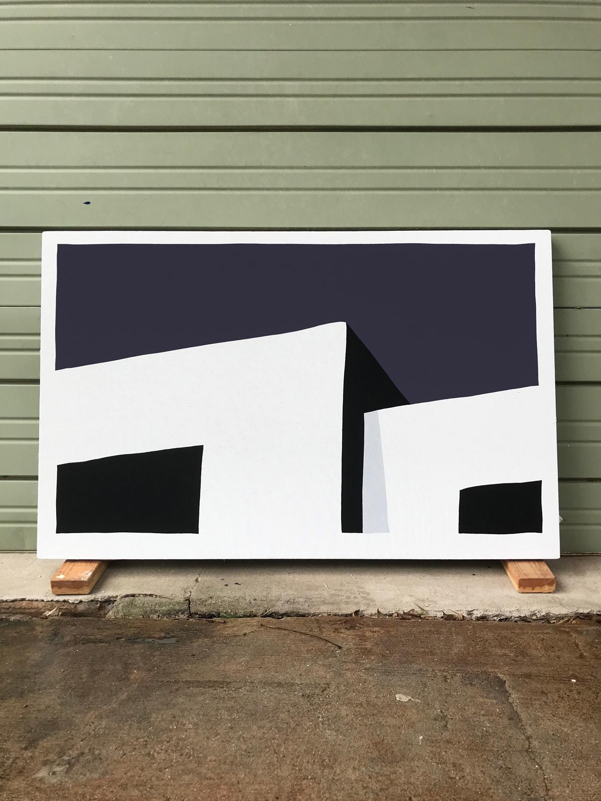 Paul Kremer:   Hopper 15 , 2018 Acrylic on canvas 30h x 48w inches