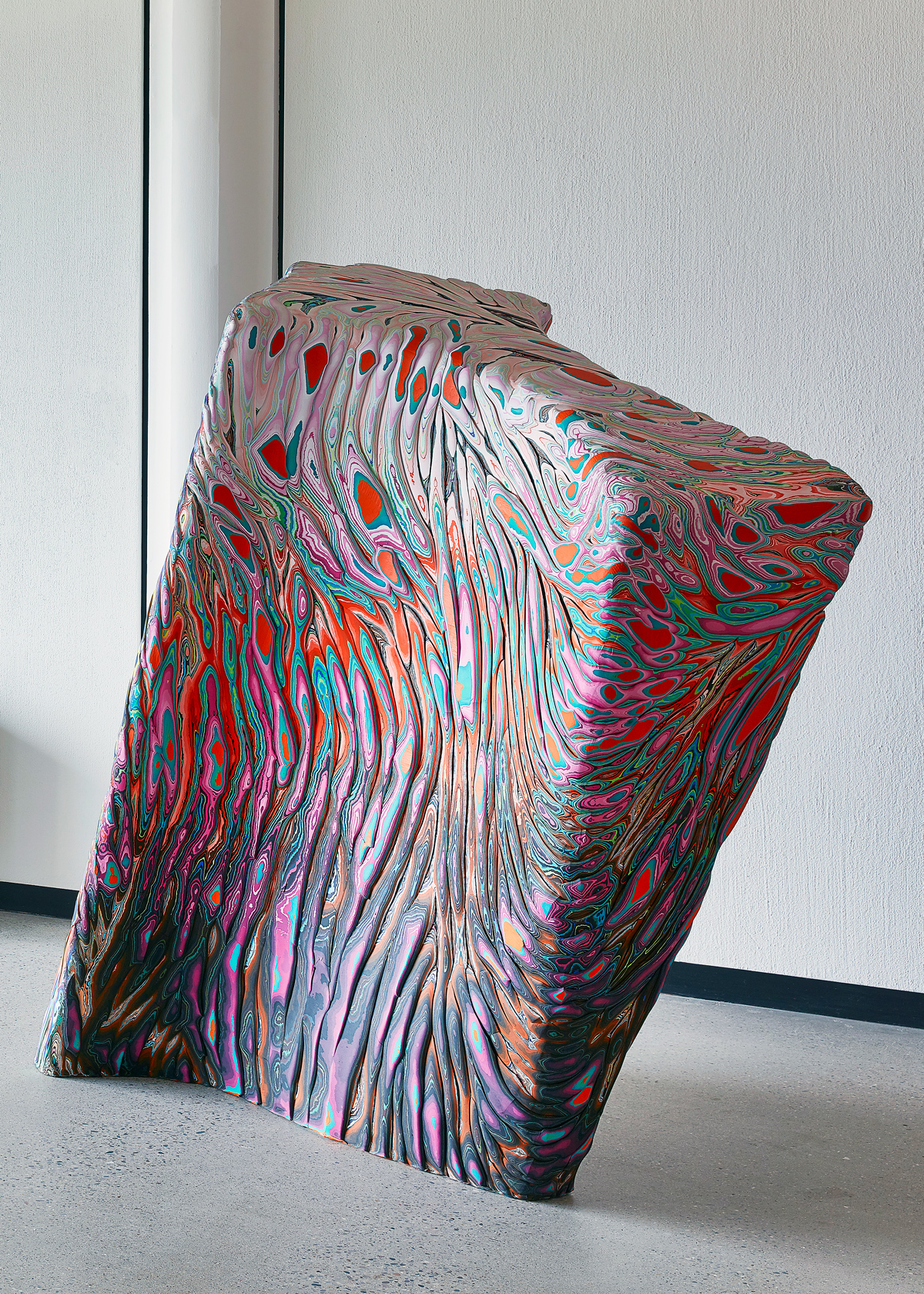 Holton Rower:   Cartilage Denial Reference , 2016 Paint on plywood 62.50h x 62.50w x 28d inches
