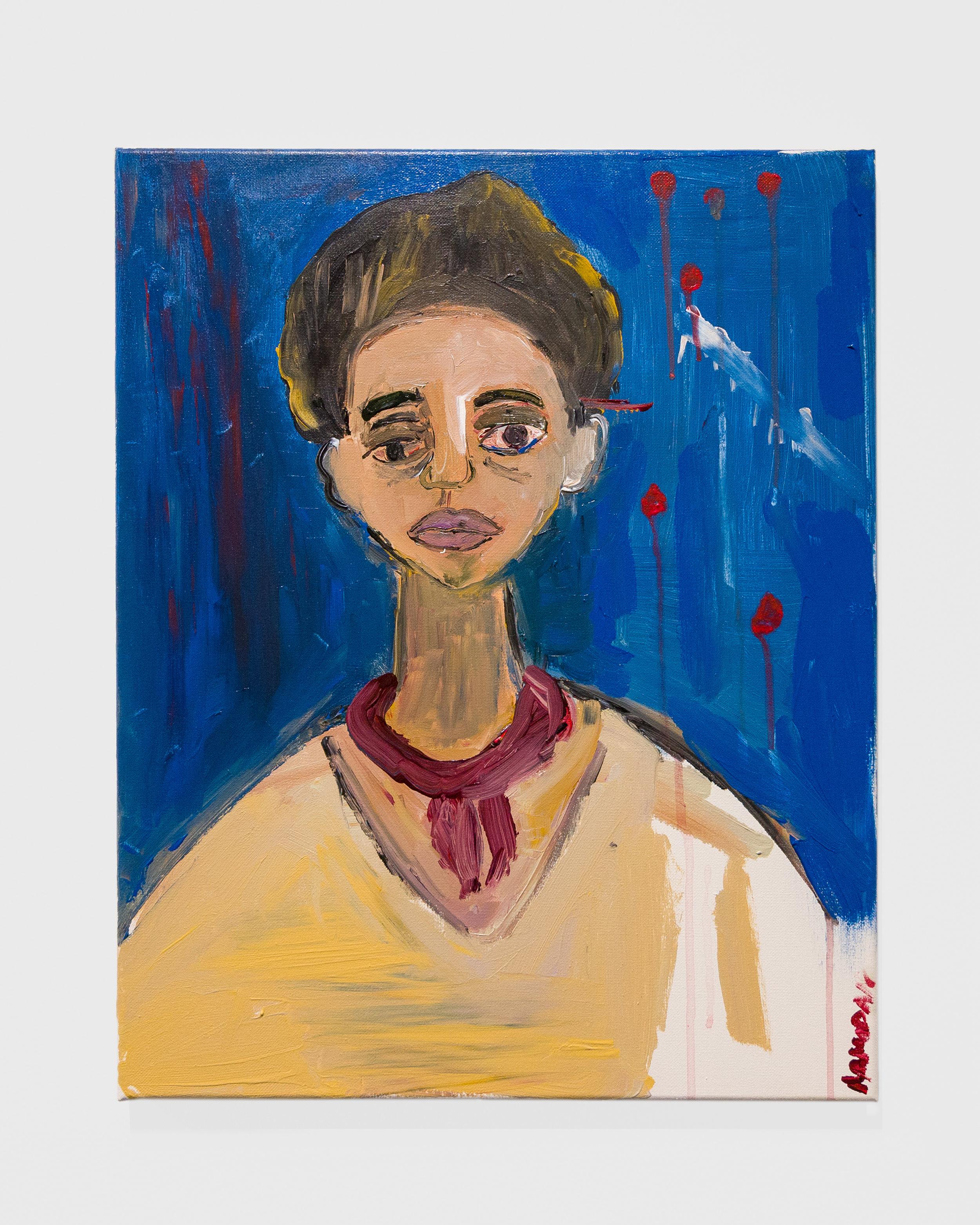 Cassi Namoda  -  2am at Cedar-Sinai , 2018 Acrylic on canvas 20h x 16w inches
