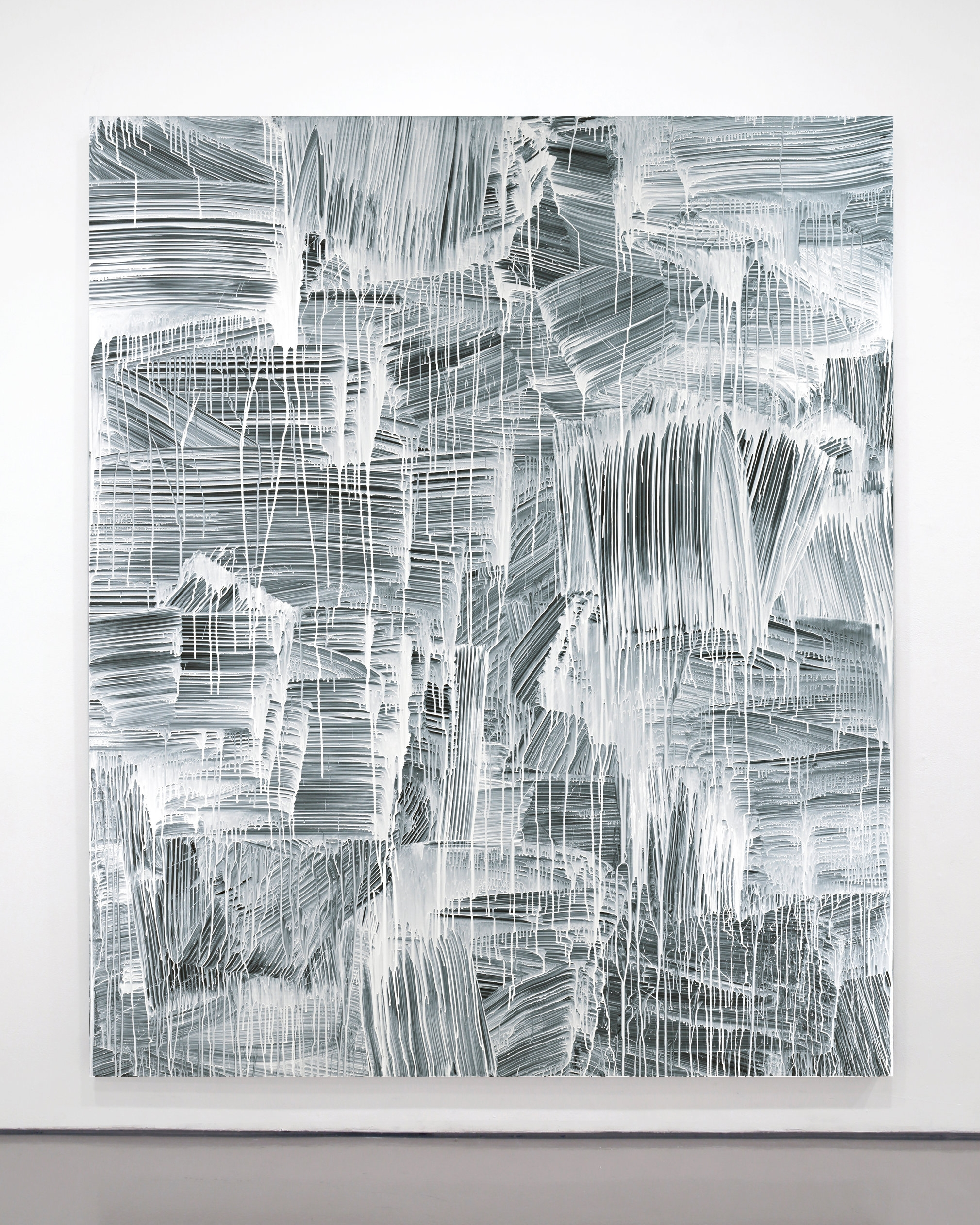 Greg Fadell  -  Nothing , 2012 Custom formulated acrylic on cotton 93h x 78w inches