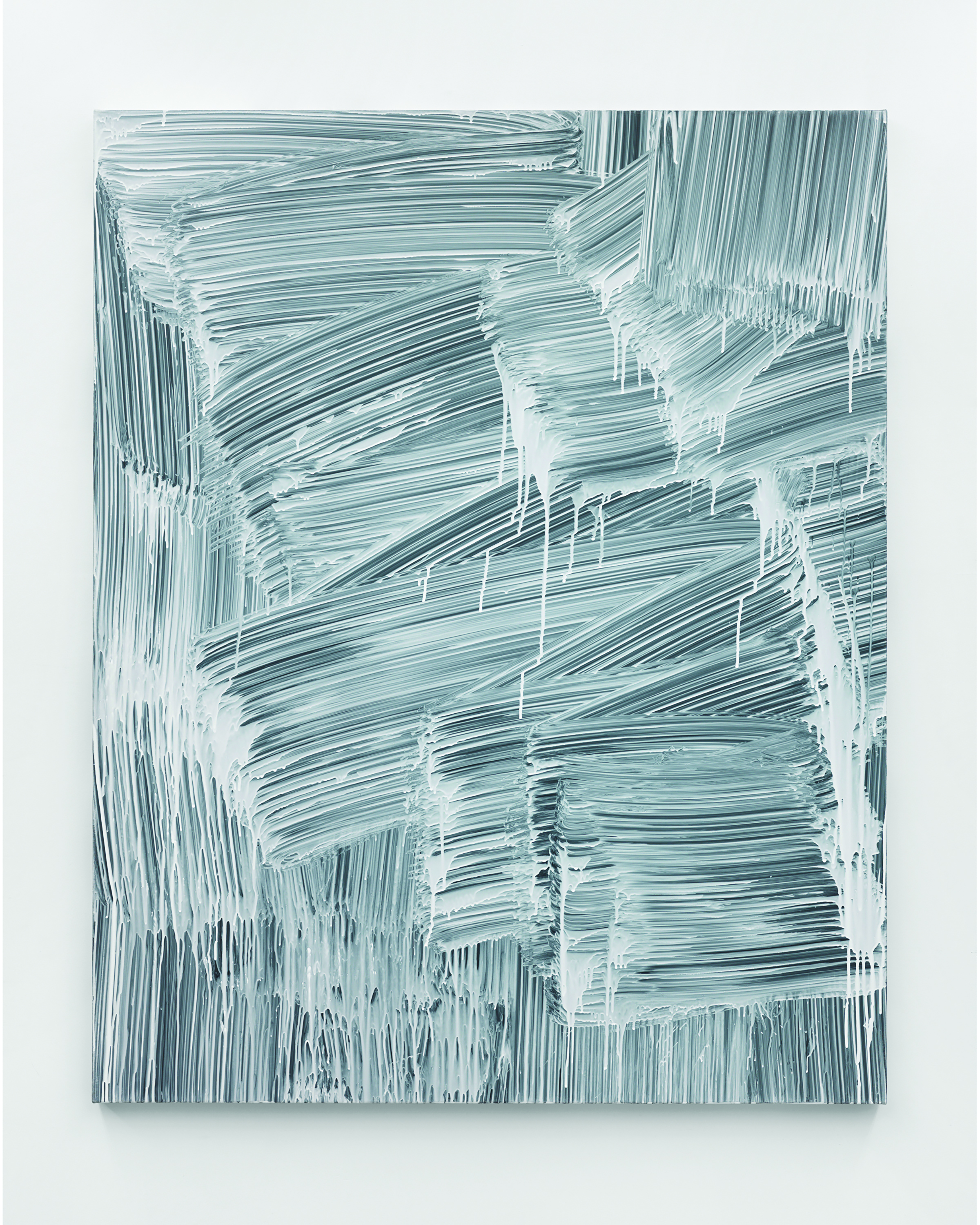 Greg Fadell  -  Nothing , 2015 Custom formulated acrylic on cotton 60h x 48w inches
