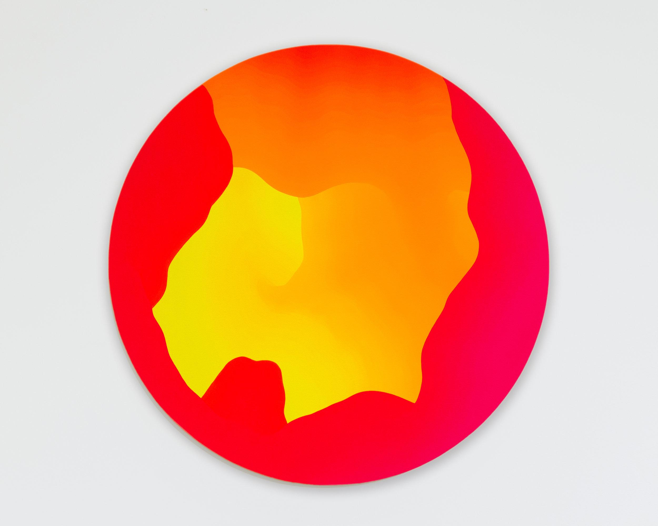 Sam Friedman  -  Untitled , 2019 Acrylic on canvas 36 inch diameter