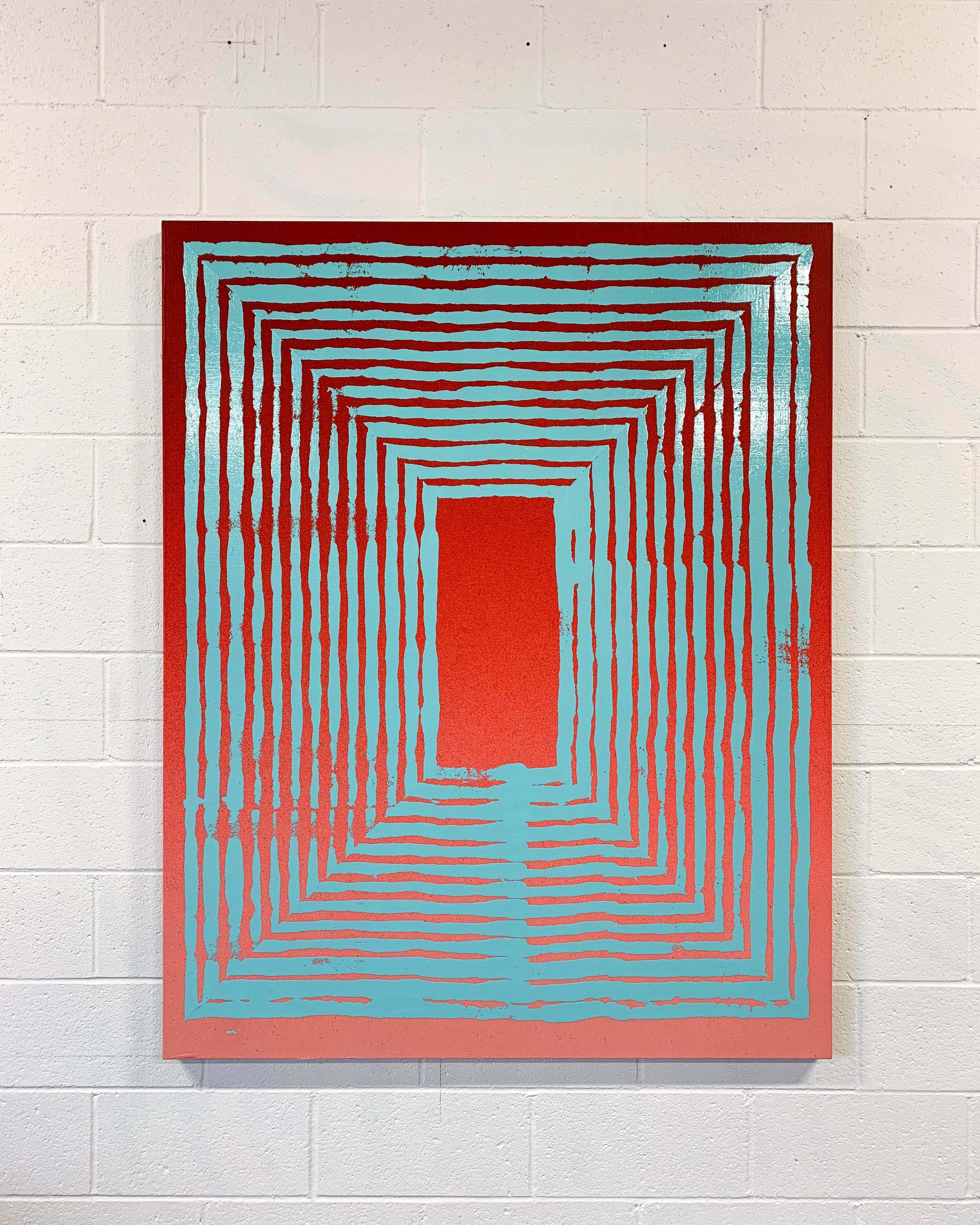 Jason REVOK  -  Hollow_Loop_small_1/19_A , 2019 Acrylic and synthetic polymer on canvas 60h x 48w inches