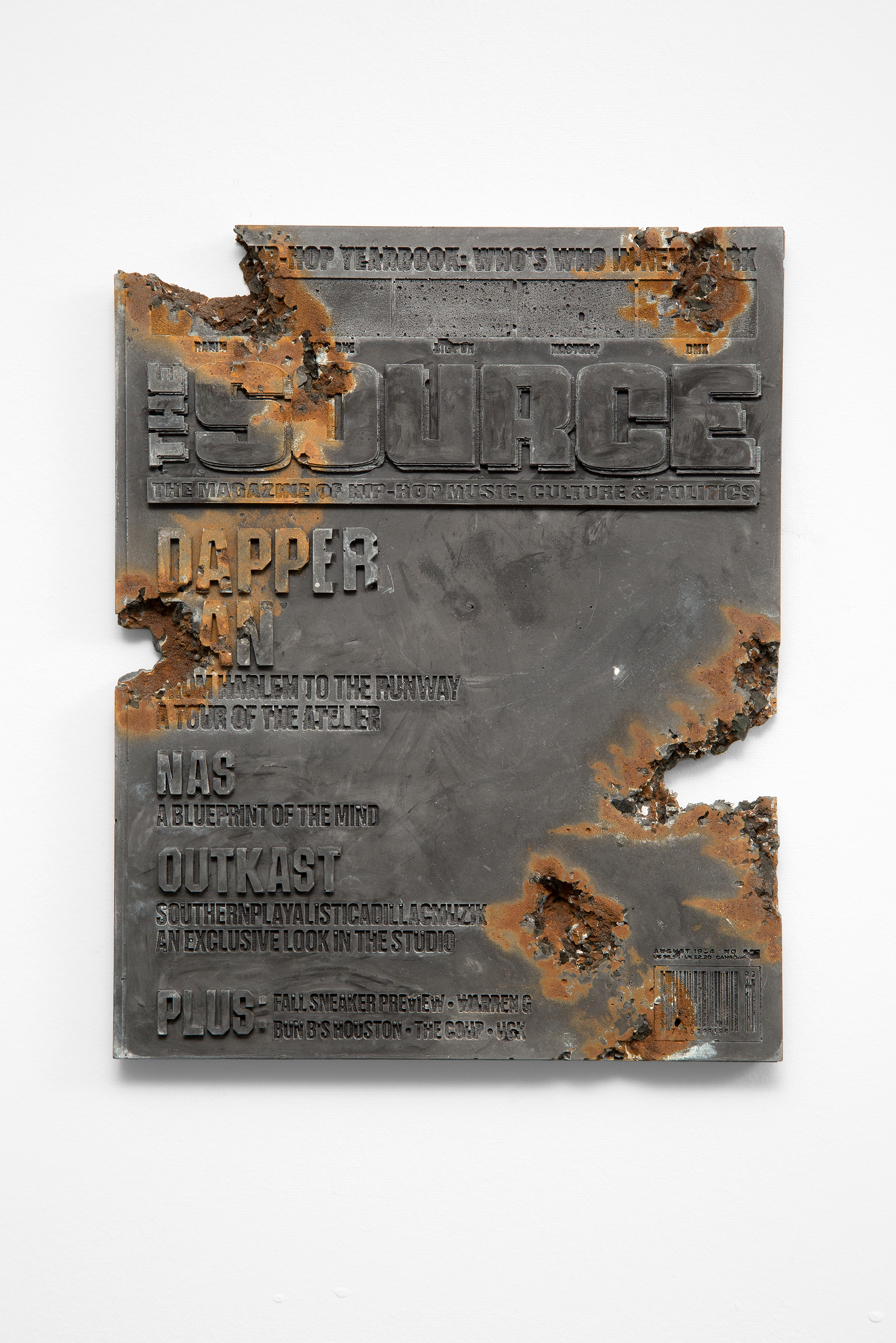 Daniel Arsham  -  Steel Eroded Source Magazine , 2019 Steel, hydrostone 10.50h x 8.38w x 0.50d inches