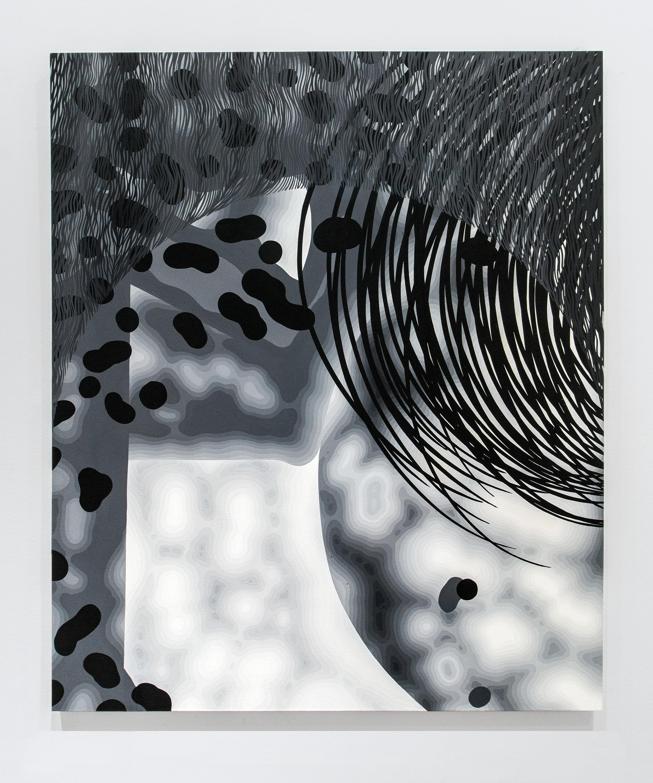 Sam Friedman -   Untitled , 2015 Acrylic on canvas 72h x 60w inches