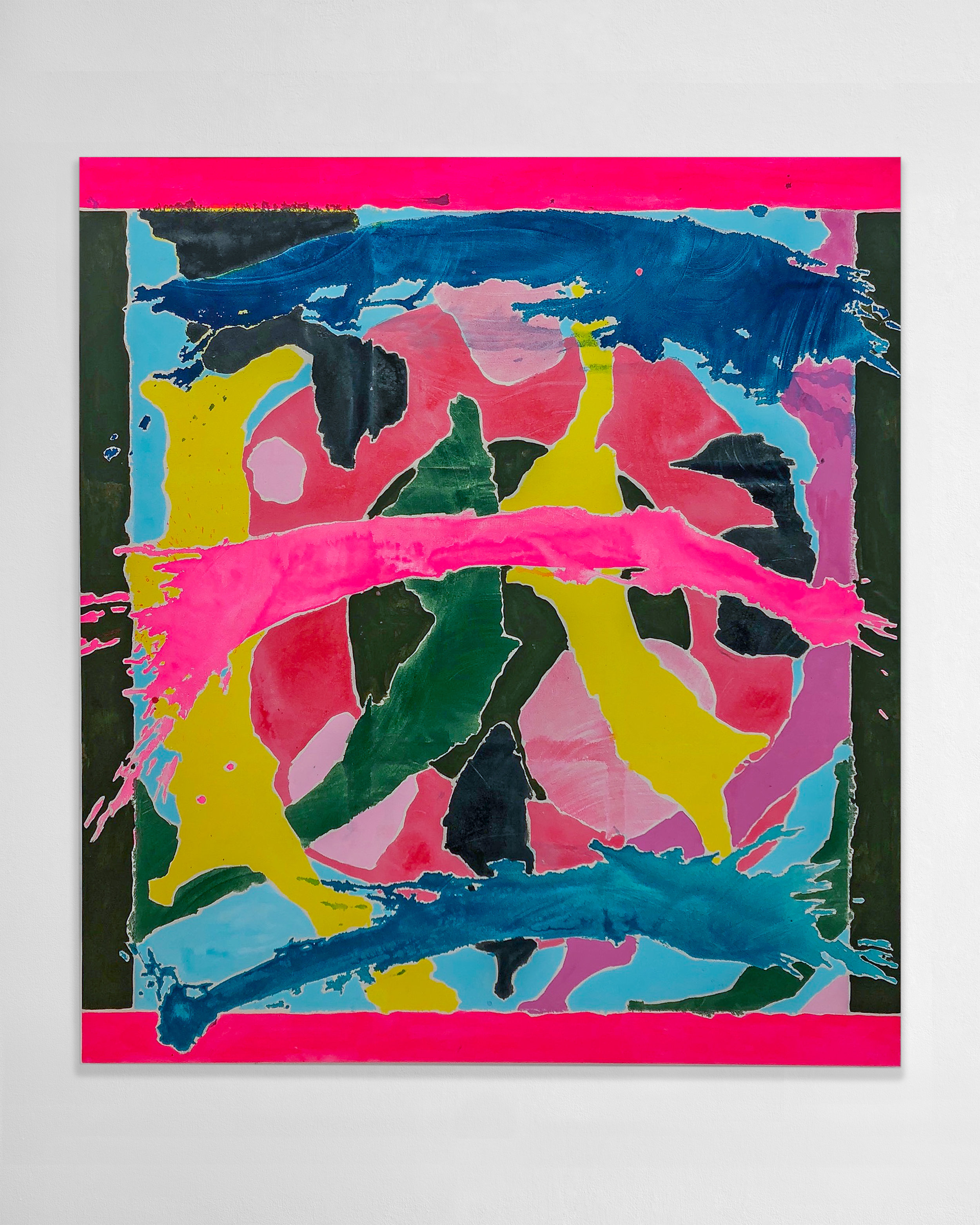 Russell Tyler  - Kind of Orbit, 2019 Acrylic on canvas 64h x 58w inches