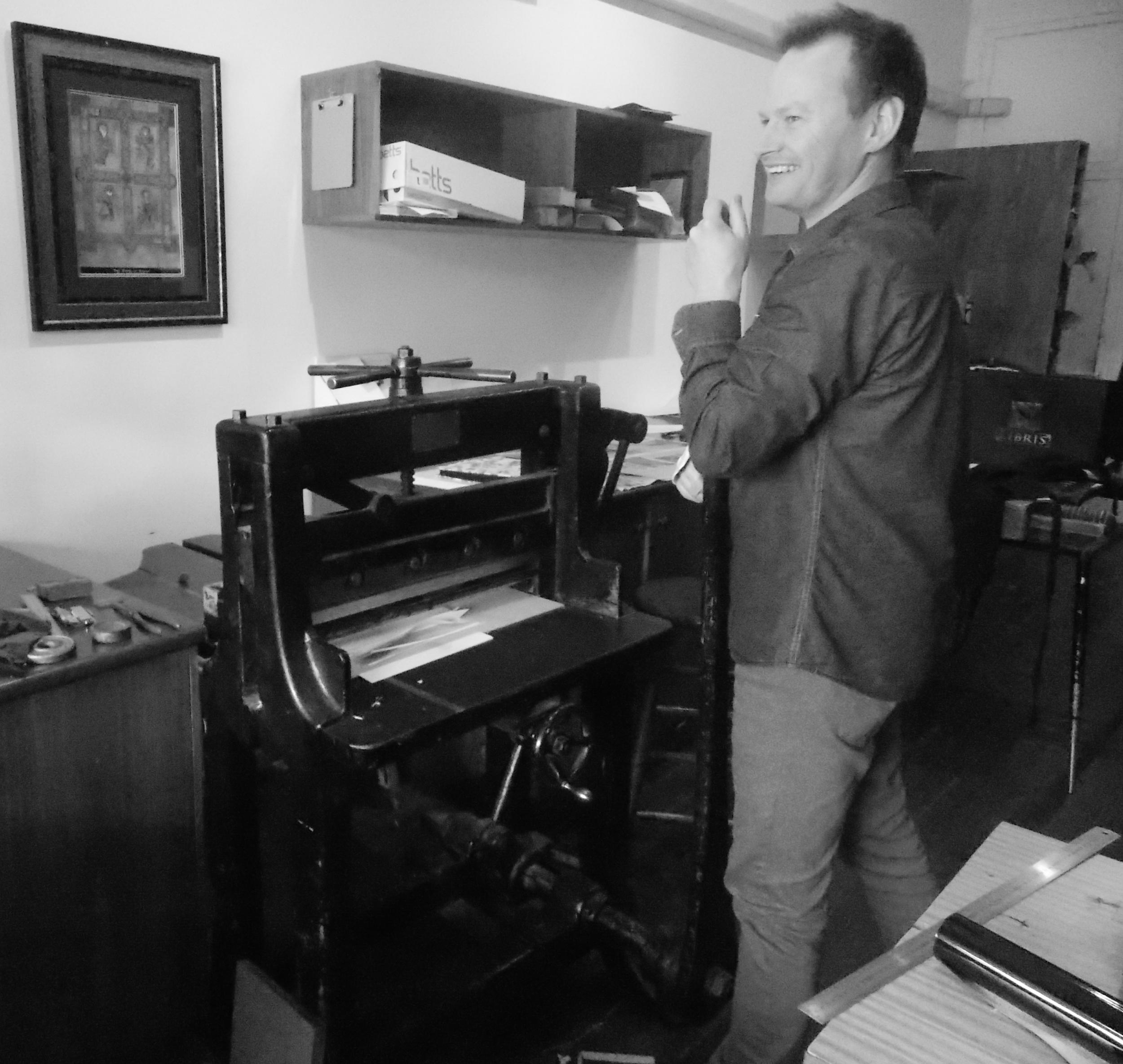 Simon Dart, Owner, Bookbinder