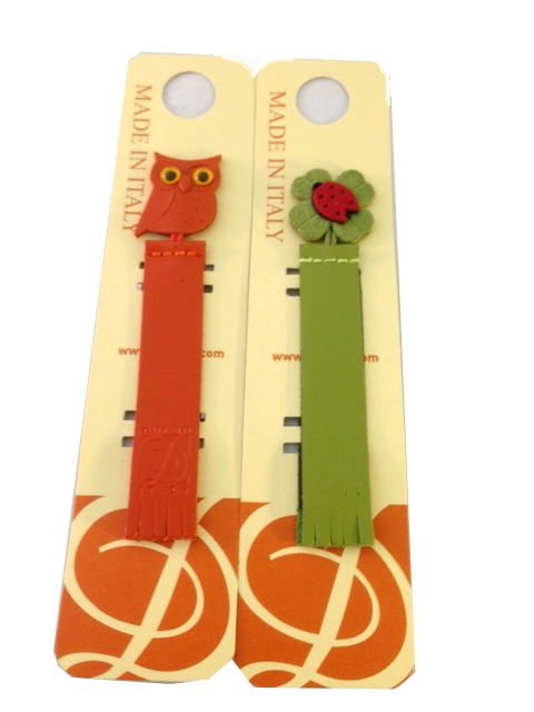 Cute leather bookmarks