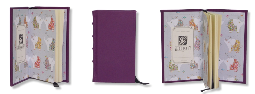 Leather Journal - Purple Slimline