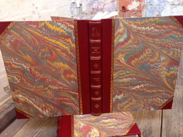 Fine Moroccan Goatskin binding with marbled sides