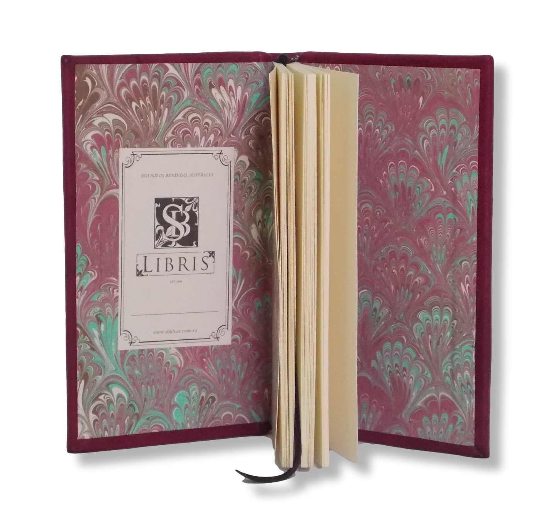 Slimline Leather Journal in Crimson
