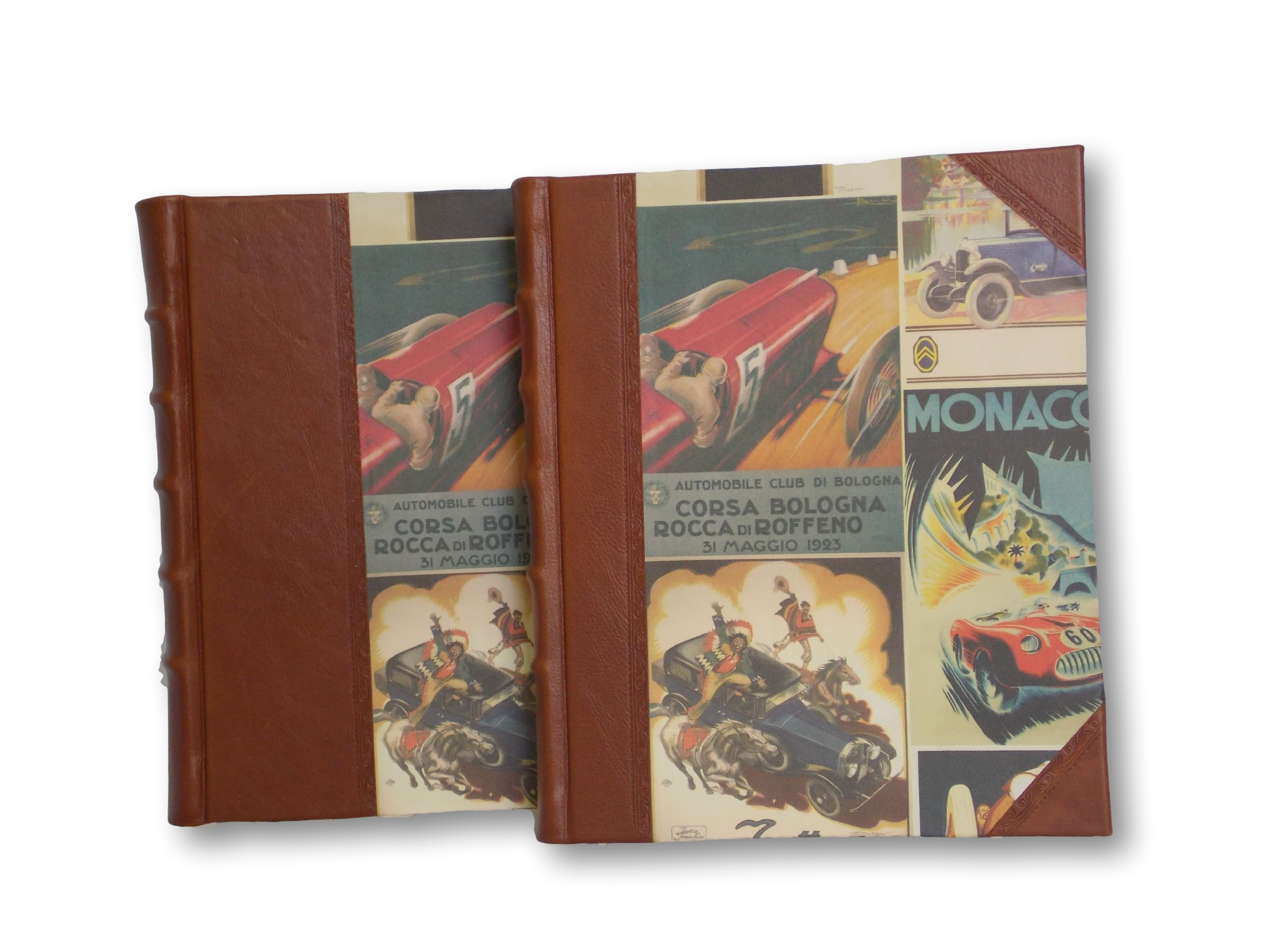 Automotive Design - Photo Albums .  Classically stylish albums featuring elegant raised bands and hand decorative tooling. Available in 2 sizes  -  From $150