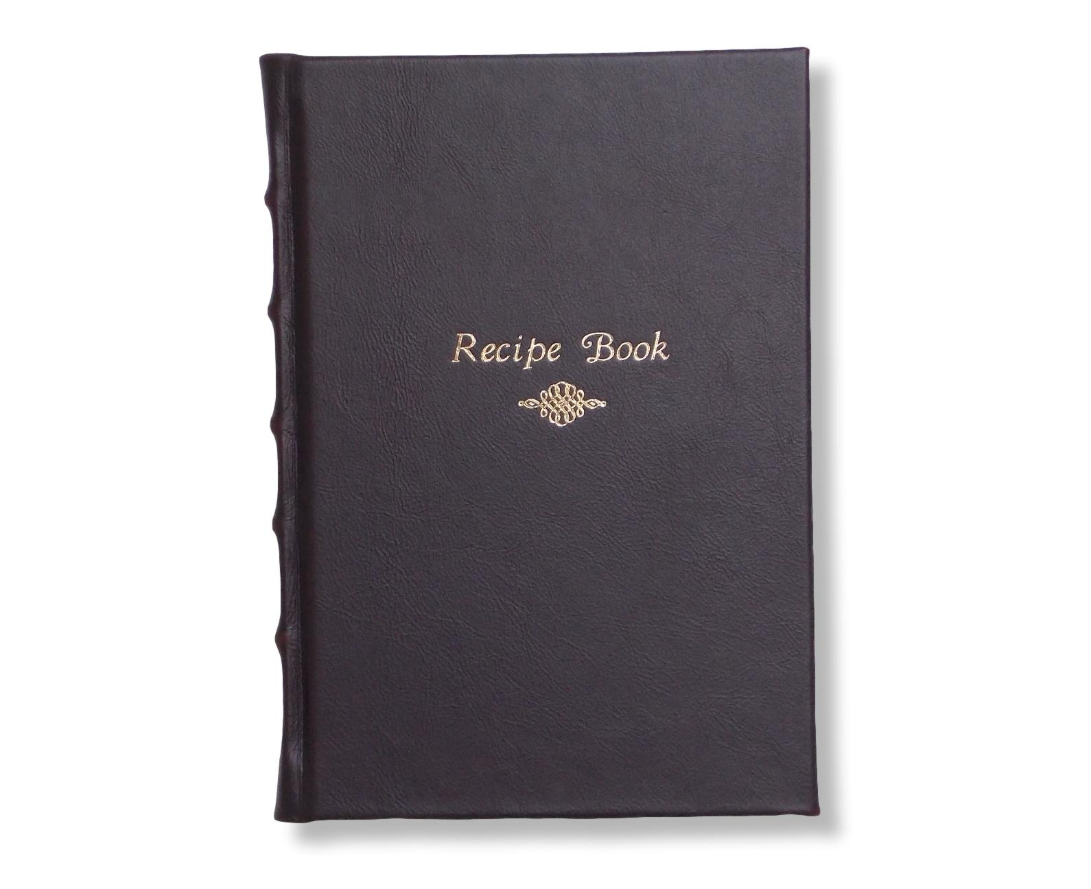 Full Leather Recipe Book in chocolate