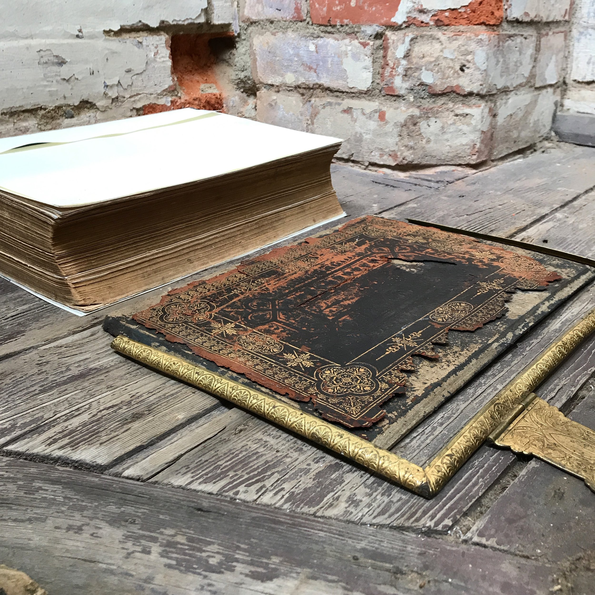 Victorian Bible - Before restoration