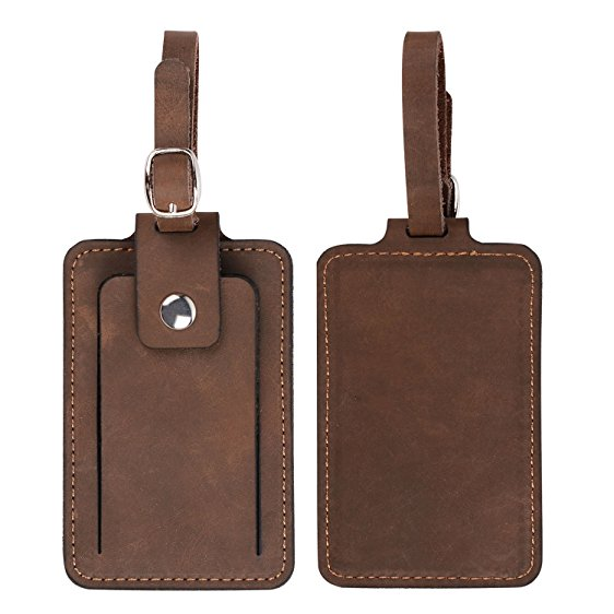 Leather Luggage Tag - $30