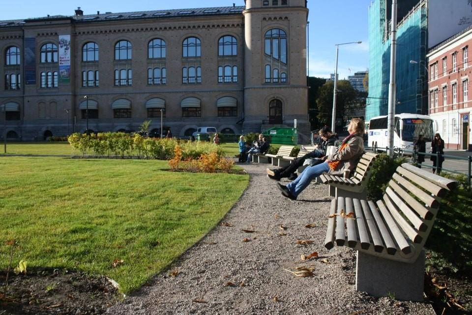 Tullinløkka er et godt utformet byrom. Foto: Alexander B. Henriksen