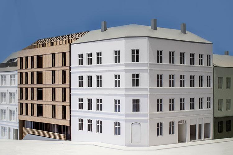 Modell av krysset Brenneriveien - Hausmansgate Foto:  Eriksen Skajaa Arkitekter