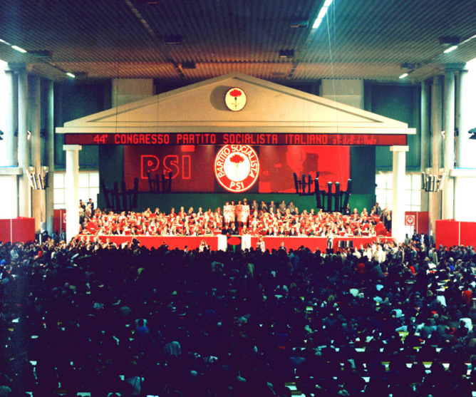 PSI Rimini congress in 1987.Image credit: Alberto Peruzzo Editore