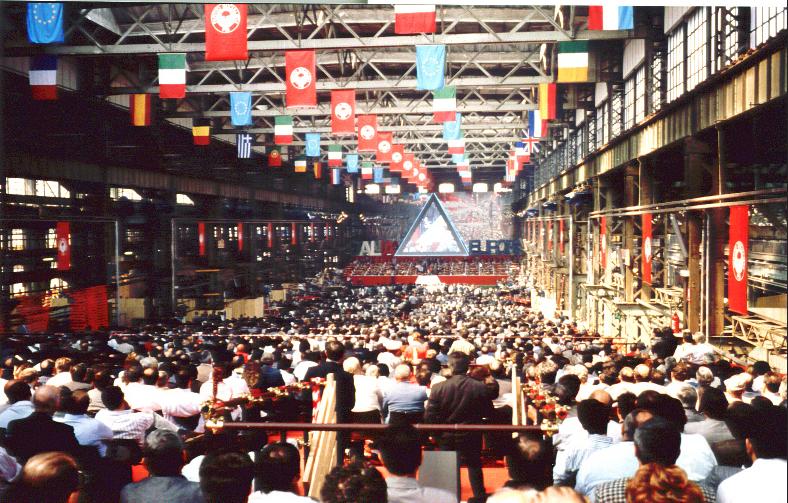 PSI Milan (Ansaldo) congress in 1989.Image credit: Alberto Peruzzo Editore