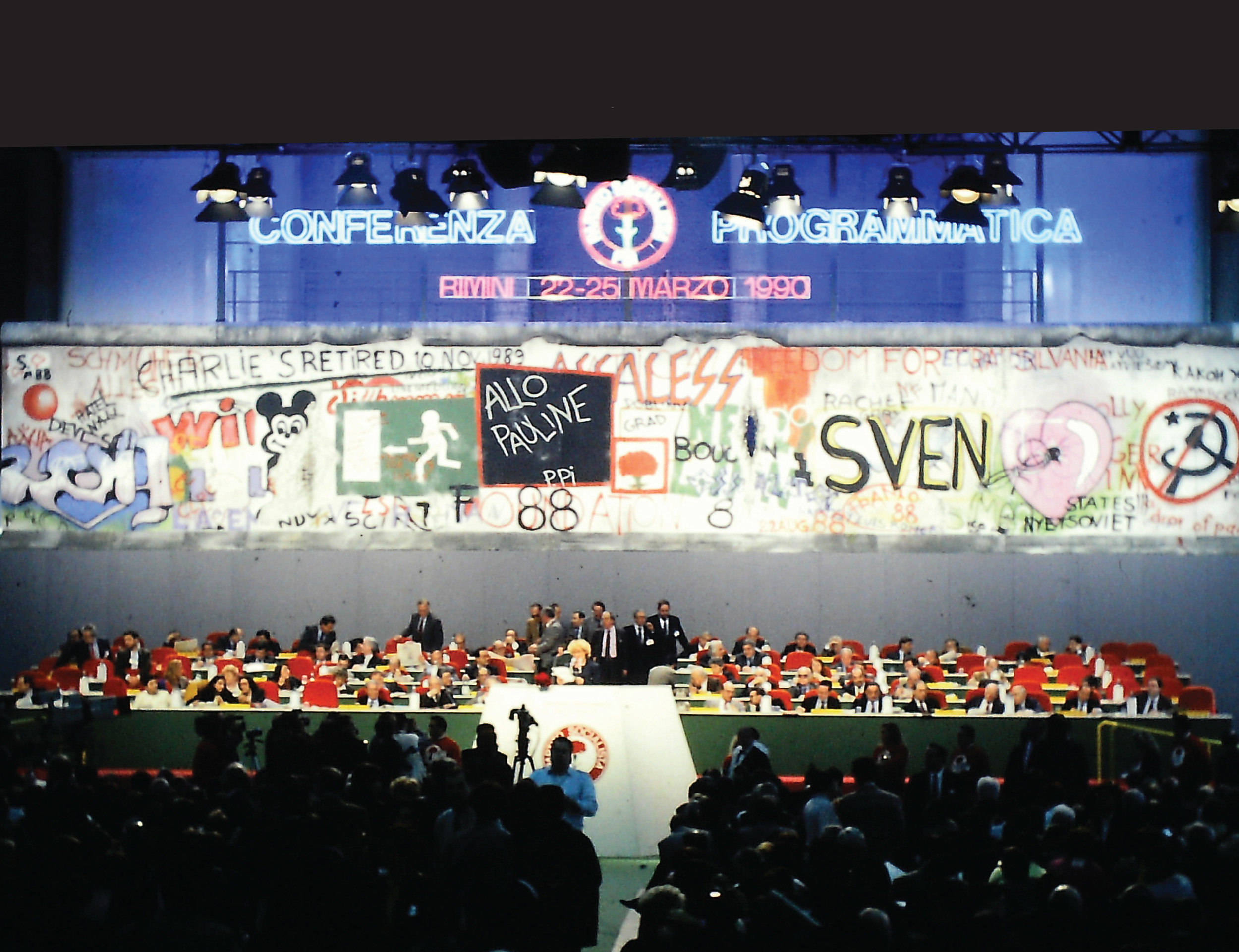 PSI Rimini programmatic conference in 1990.Image credit: Alberto Peruzzo Editore