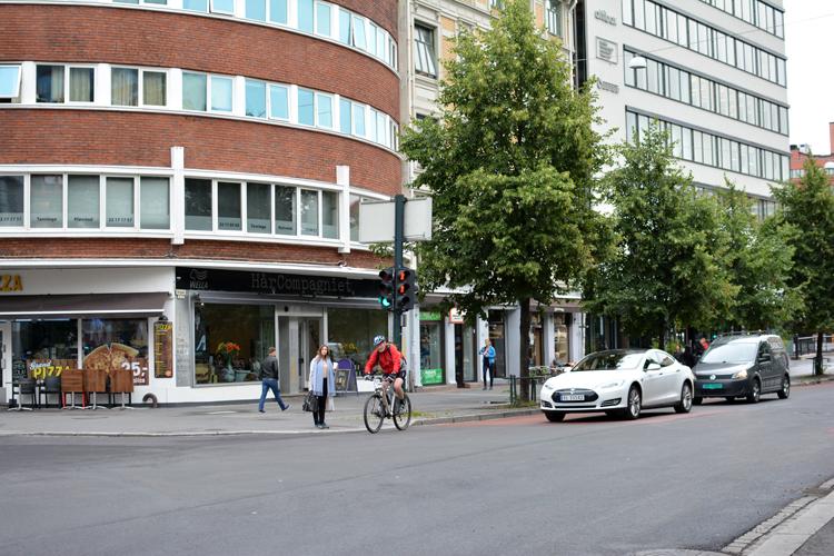 Møte mellom Stenersgata og Brugata Foto: Mia Thun