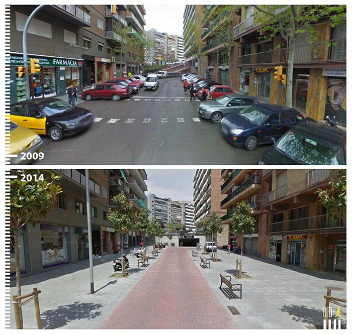 "Photo: Carrer d´Hondures, Barcelona,  ""Urb-I"" (Google Street View)"