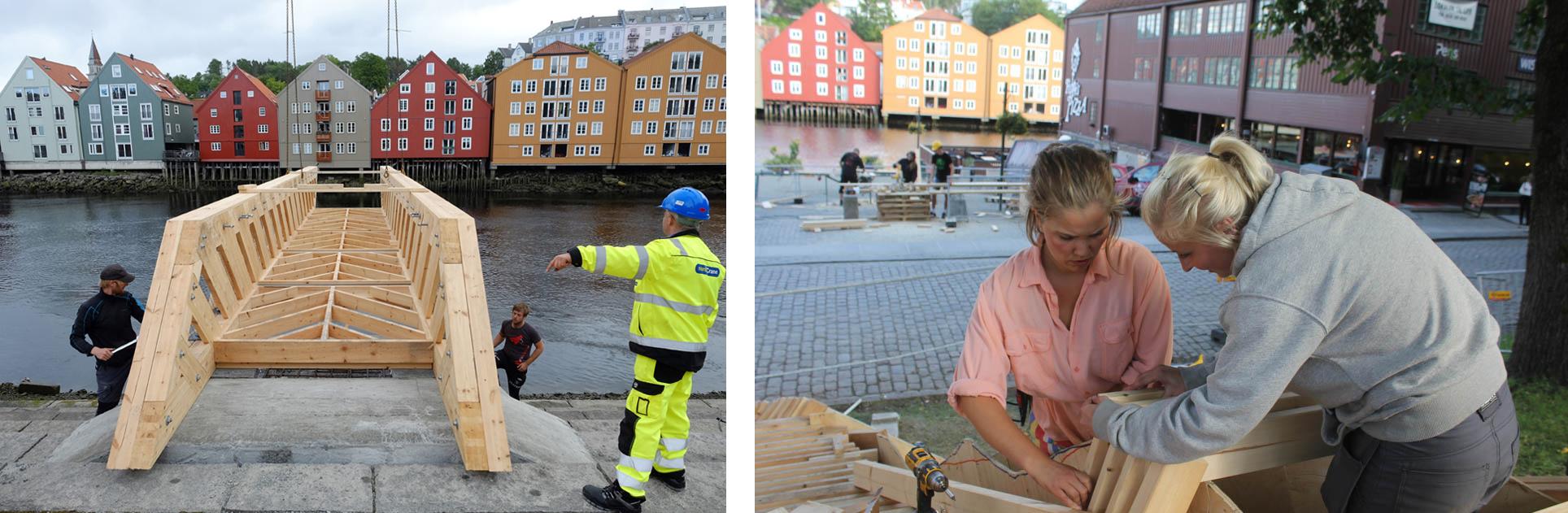 Når studenter med lyst og lekenhet også har seriøsitet og utholdenhet får vi så flotte prosjekter som beboere og turister nå får oppleve. Prosjektene har skapt nysgjerrighet og inspirert alle som har opplevd dem, både unge og gamle. Foto: Carl-Erik Eriksson (bilde til venstre) og Kristin Solhaug Næss.