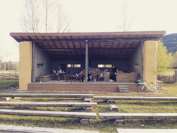The students new home, a stage. Photo: Minihouse_Hurdal