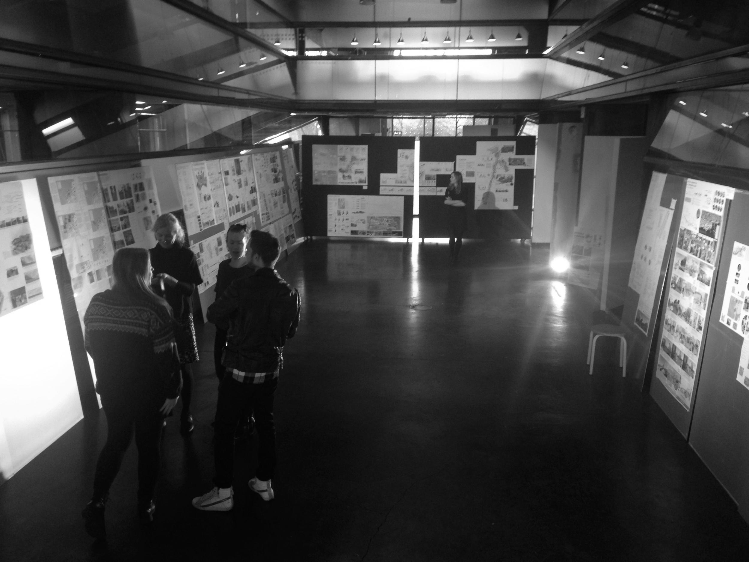 Utstilling av studentarbeidene på DOGA, desember 2015.