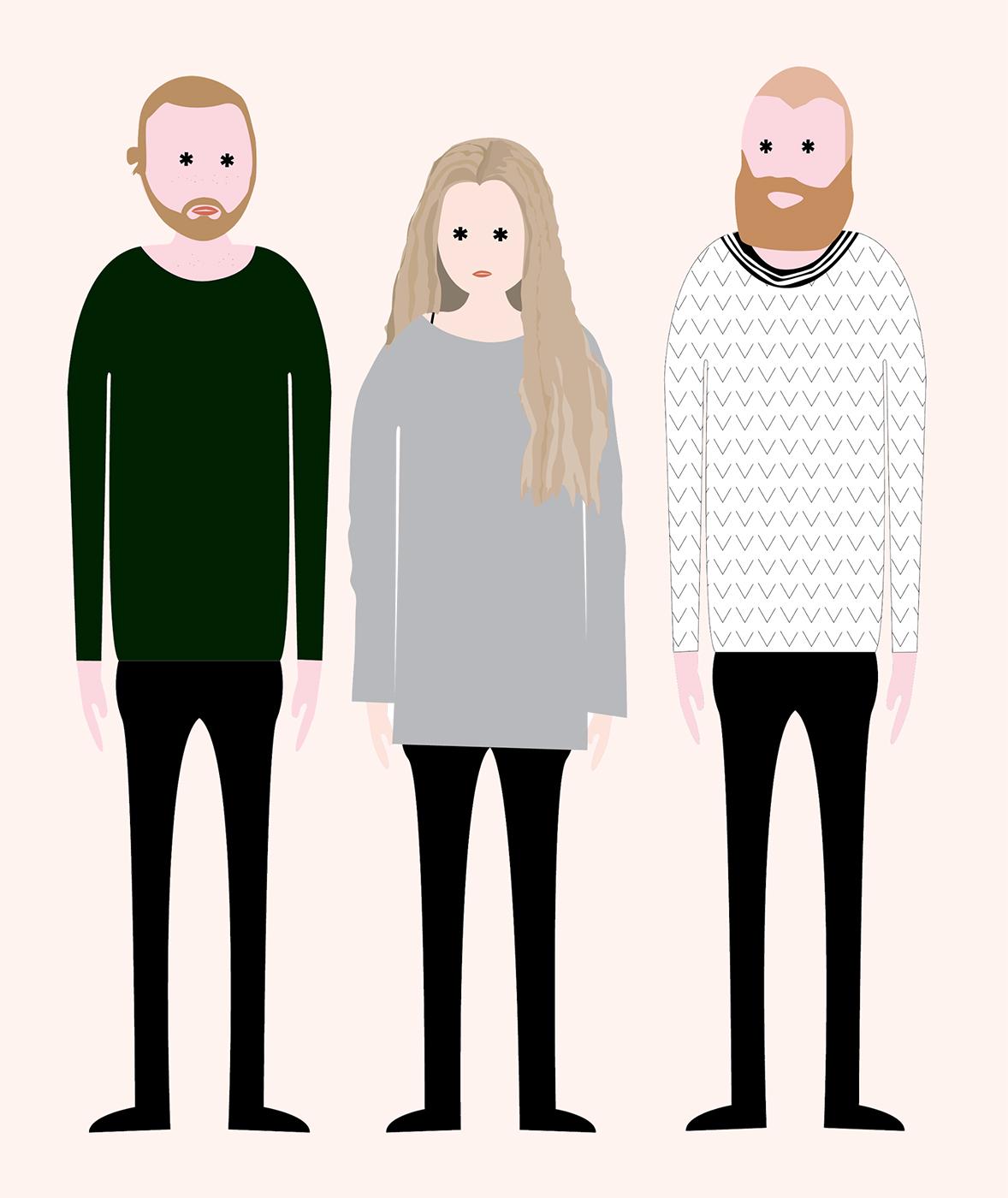Fra venstre: Haakon, Cathrine og Trygve