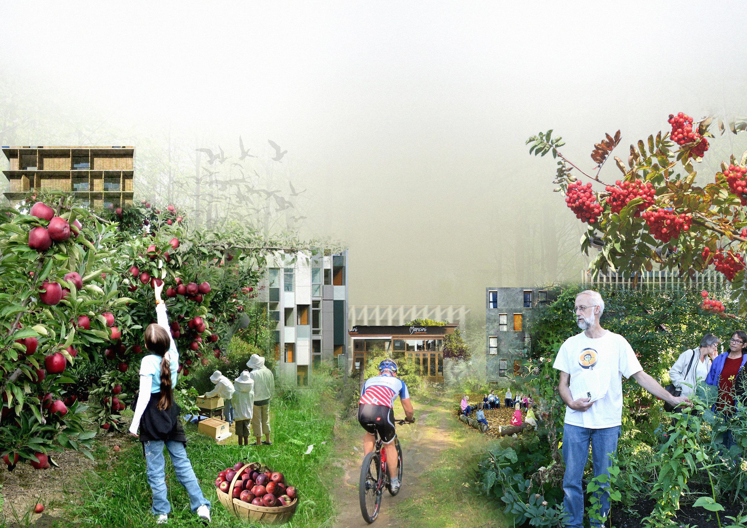 """Illustrasjon fra masteroppgaven """"Stedsutvikling på Kjeller Flyplass"""""""