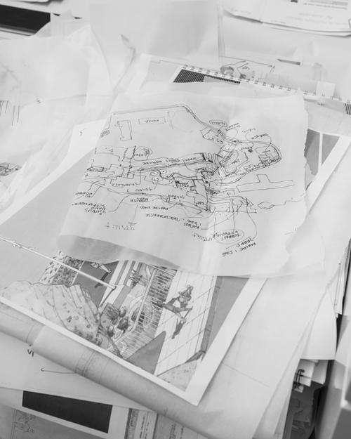 Bildet av skissen er hentet fra boka. Foto: Ivar Kvaal/ Bjørbekk & Lindheim landskapsarkitekter