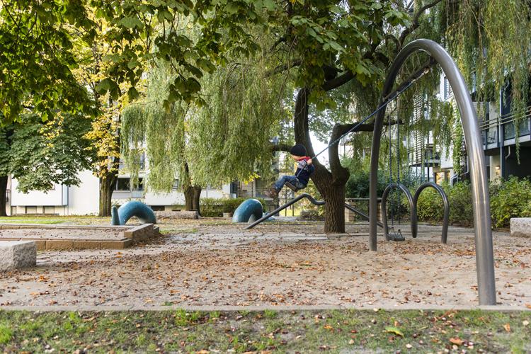 Pilestredet Park – et boligområde sentralt i Oslo. Foto: Ivar Kvaal/ Bjørbekk & Lindheim landskapsarkitekter