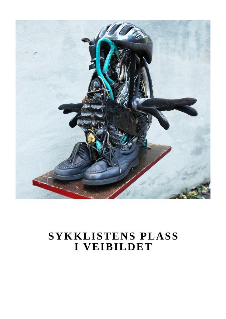 """Syklistenes plass i veibildet"" av Einar Støp-Bowitz. Foto: Den Rustne Eike."