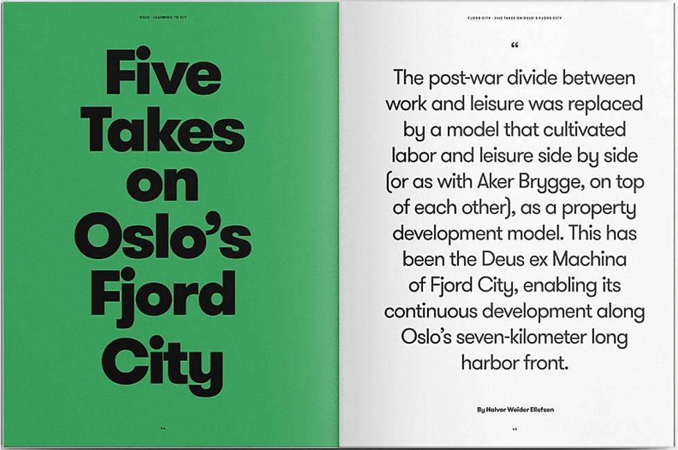 Fjordbyen i bold. Foto fra Arvinius + Orfeus Publishing.