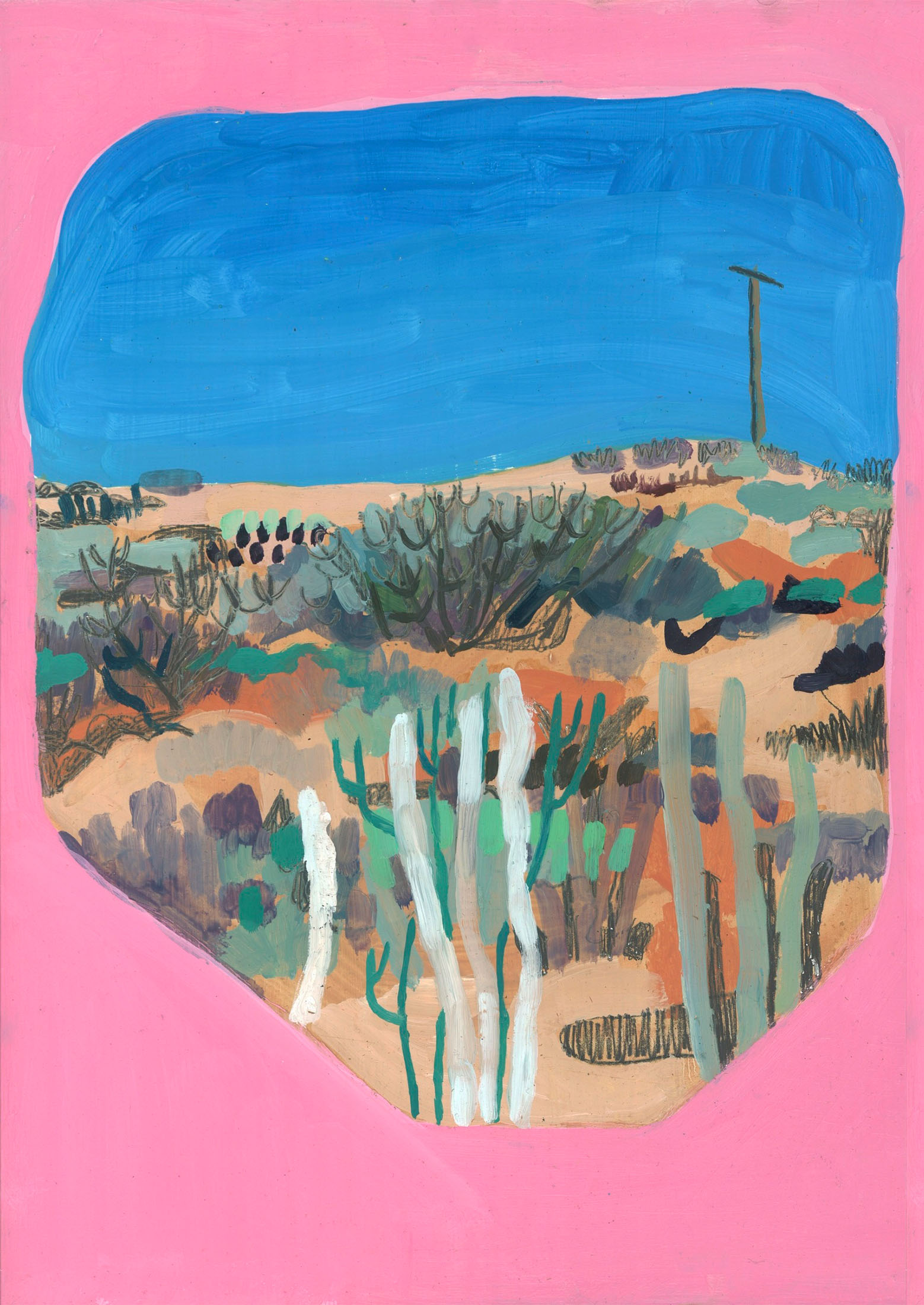 T or C Landscape ( Pink )