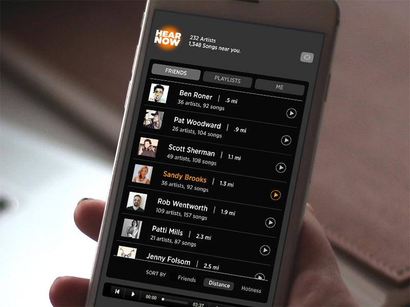 Mobile App Design / Hear Now
