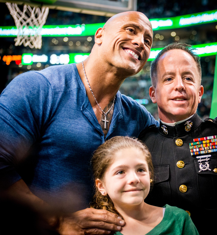 "Celtics vs. Cavs   Game 4 Playoffs   Dwayne ""the Rock"" Johnson"